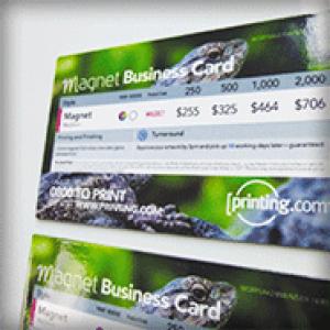 FRIDGE MAGNETS BUSINESS CARDS