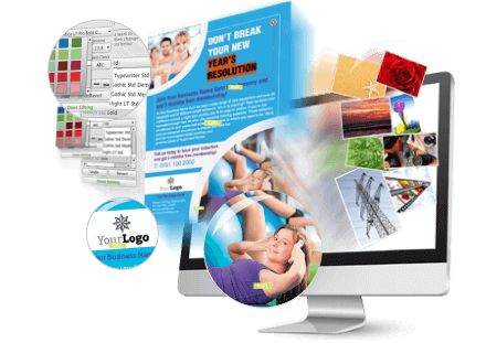 Design leaflets and flyers online, leaflet print design templates