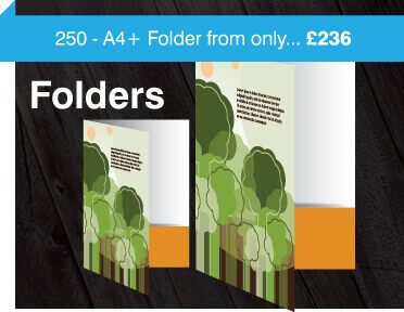 Folder printing and design, a5 and a4 folders, folder printing from £236