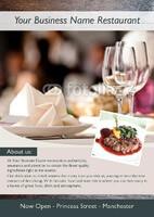 a5 restaurant flyers