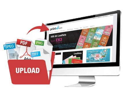 upload your leaflet printing artwork file