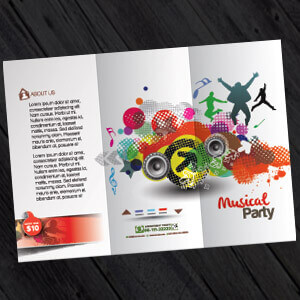 folded leaflet printing and design