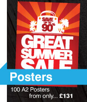 poster printing and design, poster sale 100 A2 Posters printed from £131