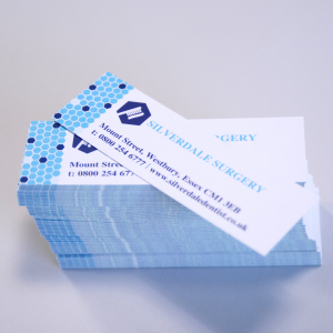 400gsm Silk Mini Business Cards