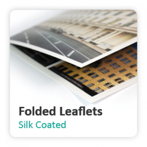 Silk Coated Folded Leaflets