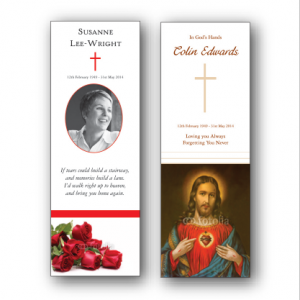 how to make memorial bookmarks