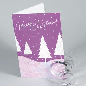 Cartes de Noël + pelliculage mat