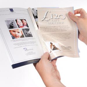 Brochures A6 avec coupons-réponse