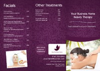 Massage A4 Folded Leaflets - Front