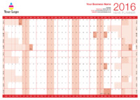Wallplanner Red 2016 by Templatecloud